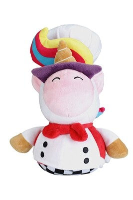 Overcooked Unicorn Chef Plush and Pin