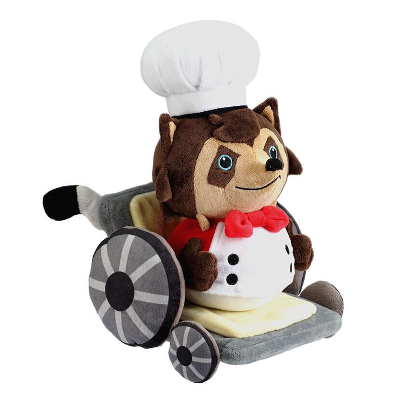 Overcooked Raccoon Chef Plush and Pin