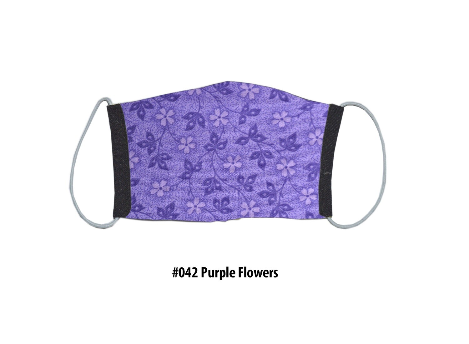 Face Mask-Black with Purple Camo Liner, 1 pack