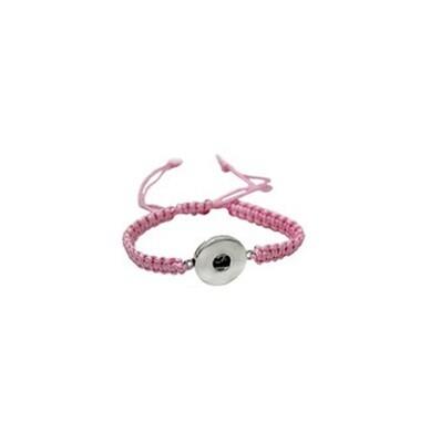 Thin adjustable snap cord bracelet