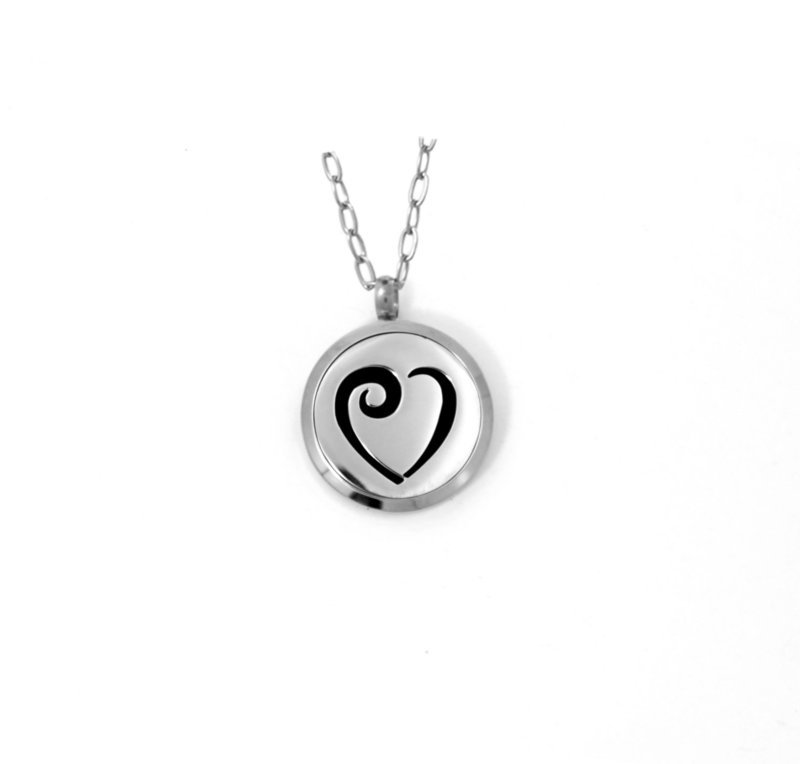 Diffusing Magnetic Heart Pendant - includes Two Leather Inserts