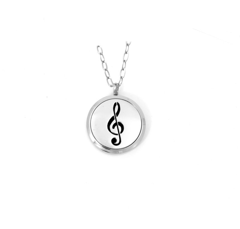 Diffusing Magnetic Treble Cleff Pendant - includes Two Leather Inserts