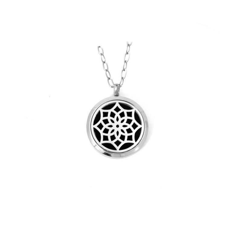 Diffusing Magnetic Mandala Pendant - includes Two Leather Inserts