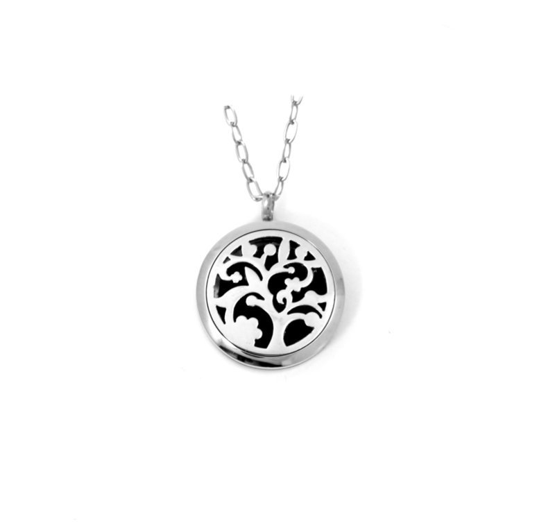 Diffusing Magnetic Gnarly Tree Pendant - includes Two Leather Inserts