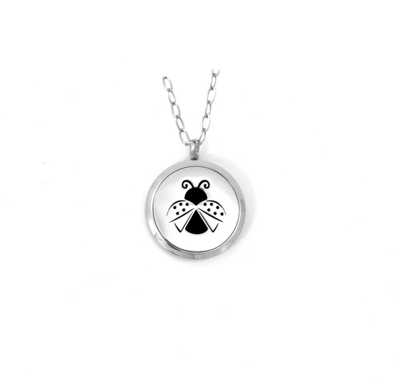 *New* Diffusing Magnetic Lady Bug Pendant - includes Two Leather Inserts