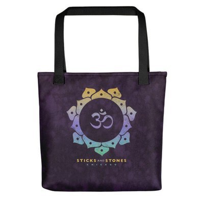Sticks and Stones PLUM Tote Bag