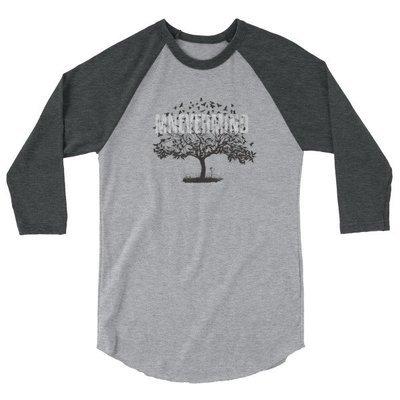 Mnevermind Crows 3/4 sleeve raglan shirt