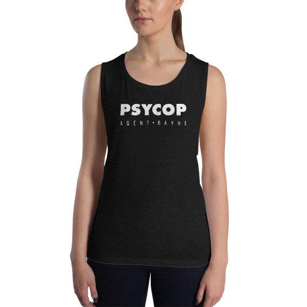 PsyCop Agent Bayne Ladies' Muscle Tank