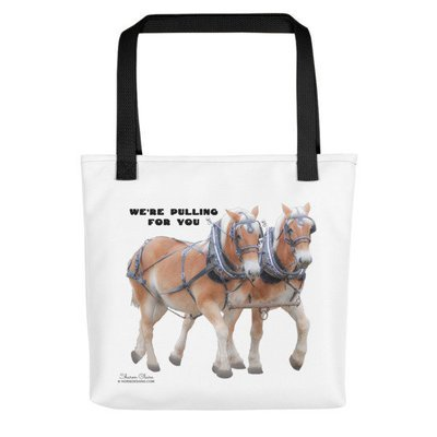 Belgian Draft Horse Team Tote Bag