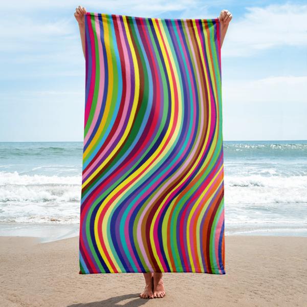 """Wavy"" Beach Towel"