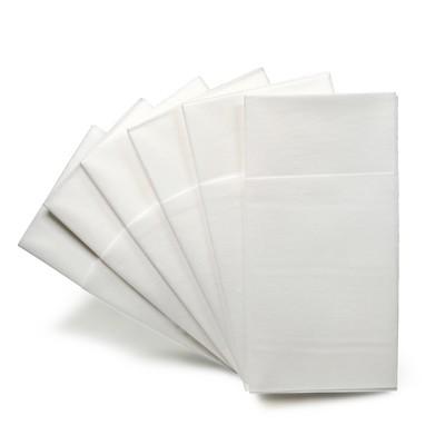Napkin Linen Like Paper - White Prefolded 24 Packs x 40