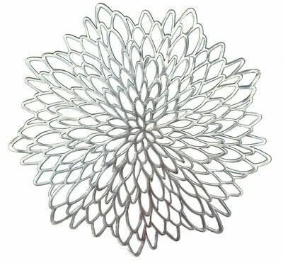 Leaf Design - Gold Pressed Vinyl Placemat