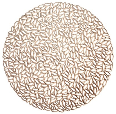 Musk Design - Round Gold Pressed Vinyl Placemat