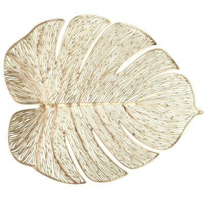 Garden Design - Gold Pressed Vinyl Placemat