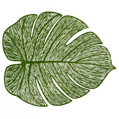 Garden Design - Green Pressed Vinyl Placemat