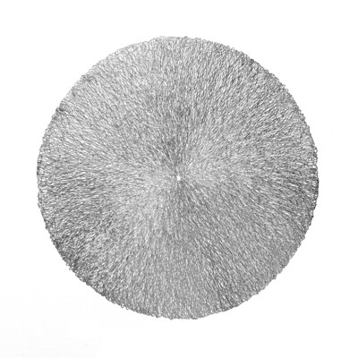 Reef Design - Round Silver Pressed Vinyl Placemat
