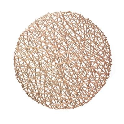 Summer Design - Round Rose Gold Pressed Vinyl Placemat