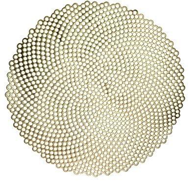 Mosaic Design - Round Gold Pressed Vinyl Placemat