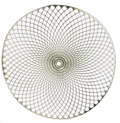 Eclipse Design - Round  Gold Pressed Vinyl Placemat