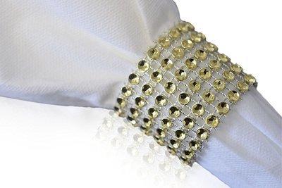 Napkin Rings, Rhinestone - GOLD - 240 PCS -