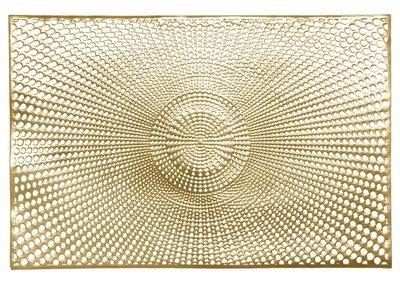 Mosaic Design - Rectangular Gold Pressed Vinyl Placemat