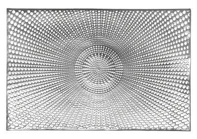 Mosaic Design - Rectangular Silver Pressed Vinyl Placemat