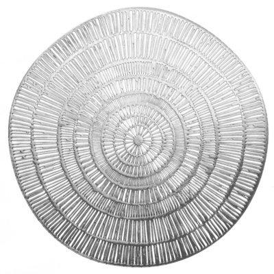 Cleo Design - Round Silver Pressed Vinyl Placemat