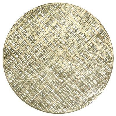 Linen Design - Round Gold Pressed Vinyl Placemat