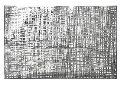 Linen Design - Rectangular Silver Pressed Vinyl Placemat