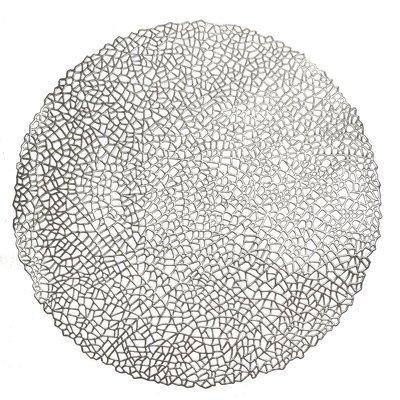 Mystique Design - Round Silver Pressed Vinyl Placemat