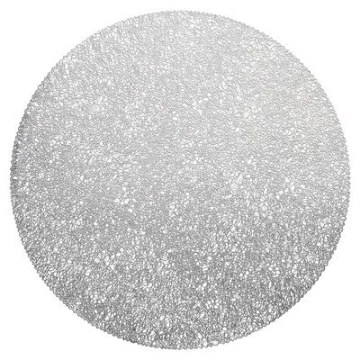 Glam Design - Round Silver Pressed Vinyl Placemat