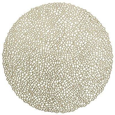 Mystique Design - Round Gold Pressed Vinyl Placemat