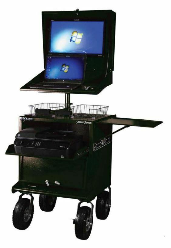 Mobile Workstation Cart (12v & 24v, with or without printer/battery)