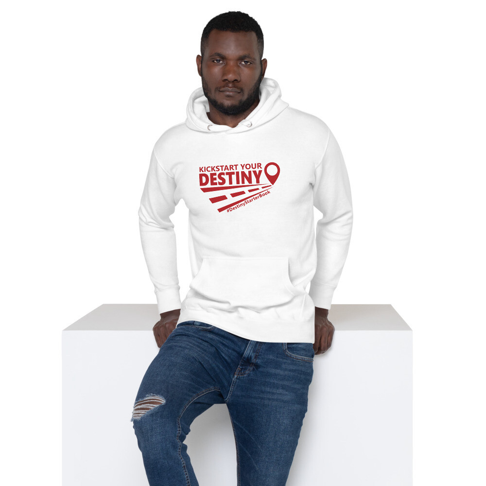 Unisex Hoodie with Red Print
