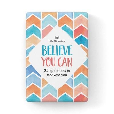 心靈信息卡 - Believe You Can