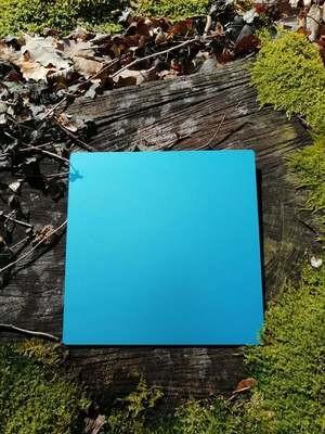 Plaque Tesla bleue grande