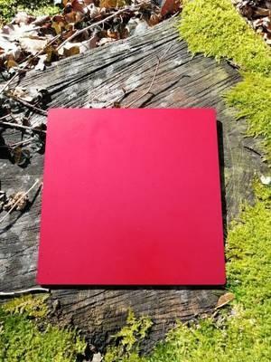 Plaque Tesla rouge grande