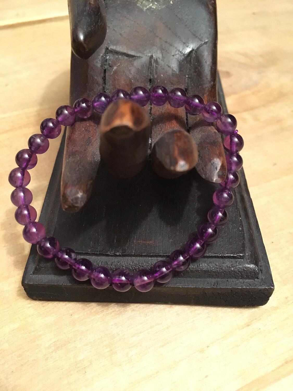 Bracelet Améthyste 6mm