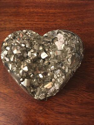 Coeur en pyrite