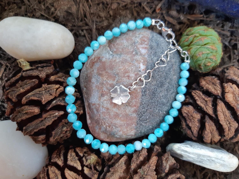 """Bracelet """"Amazonite et pendentif fait main"""""""
