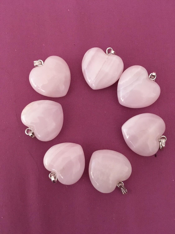 Pendentif Cœur en Mangano-calcite