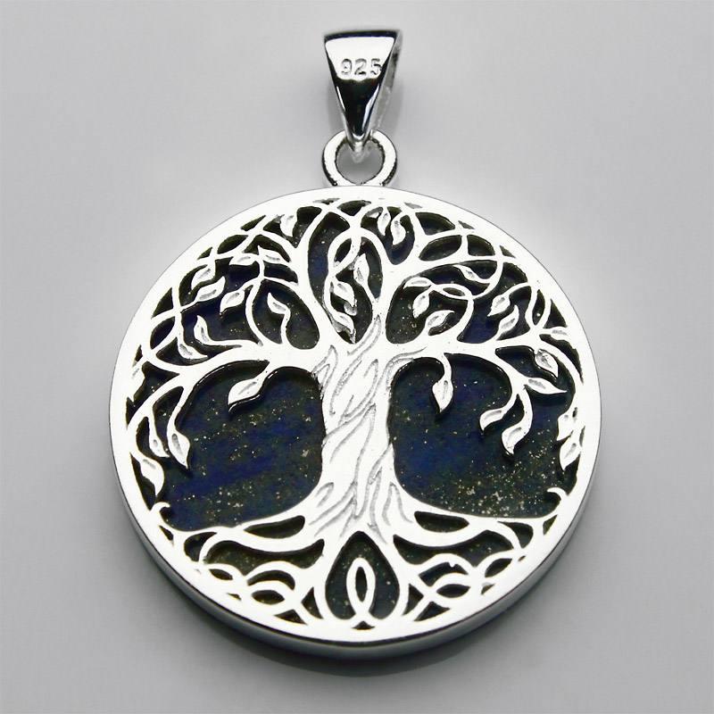 Pendentif arbre de vie et lapis-lazuli