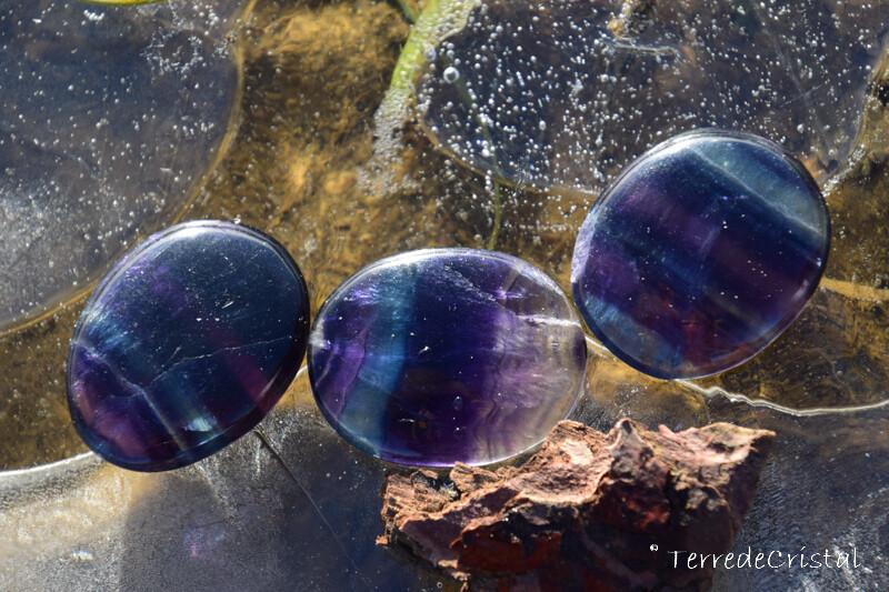 Fluorite arc-en-ciel plate