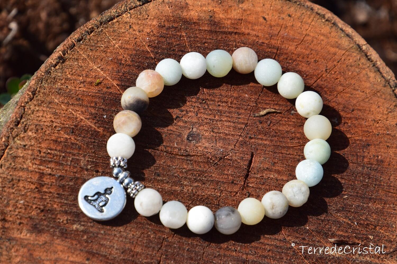 Bracelet en Amazonite Buddha 8 mm