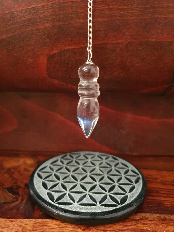 Pendule pharaon en cristal de roche