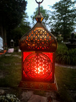 Lanterne orientale fleur de vie