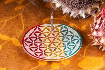 Fleur de vie ronde colorée