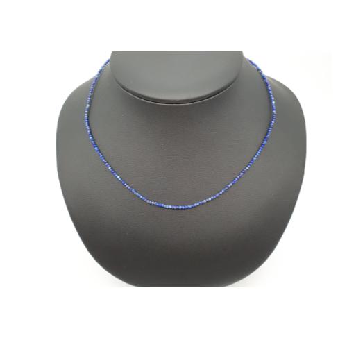 Collier faceté en lapis-lazuli