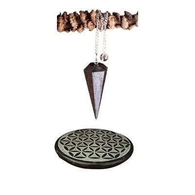 Pendule hématite hexagonal