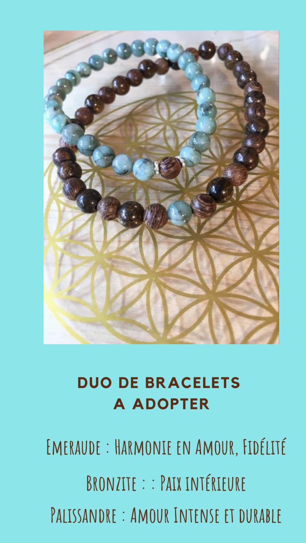 Duo de bracelets couple
